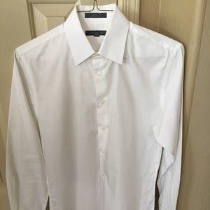Nordstrom Rack White Dress Shirt 15x32/33 Trim Fit